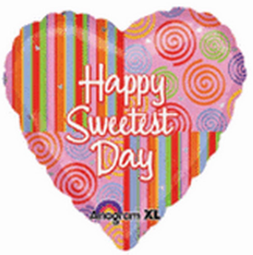 "18"" Sweetest Day Swirls & Stripes"