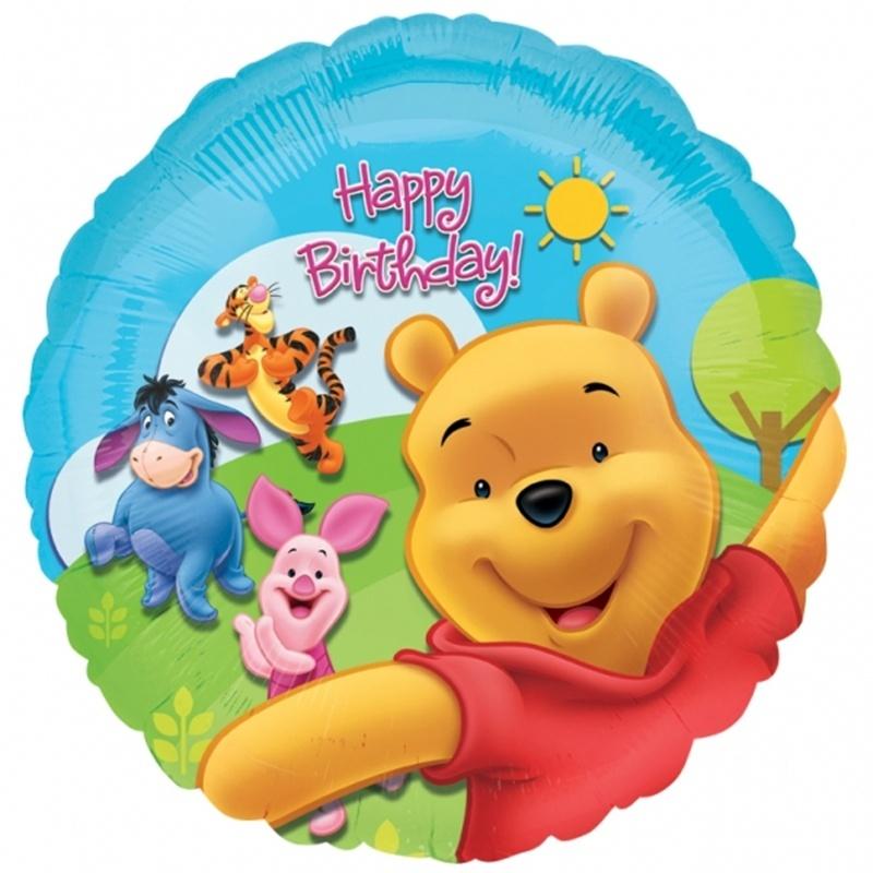 "18"" Winnie the Pooh & Friends Sunny HBD"