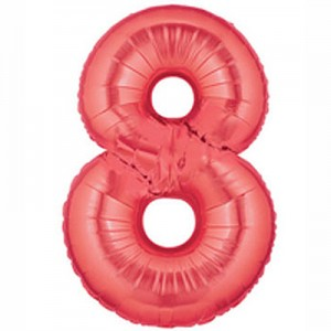 """40"""" Large Number Balloon 8 Red"""