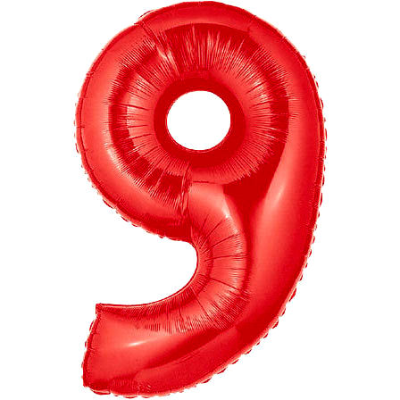 """40"""" Large Number Balloon 9 Red"""