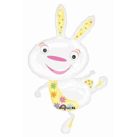 "40"" Happy White Bunny Rabbit Balloon"