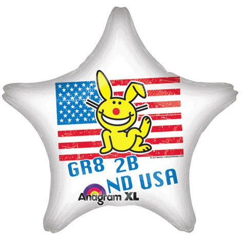 "18"" It's Happy Bunny USA Star Balloon"