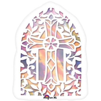 "18"" Jr. Shape Stained Glass Window"