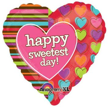 """18"""" Sweetest Day Stripes & Hearts"""