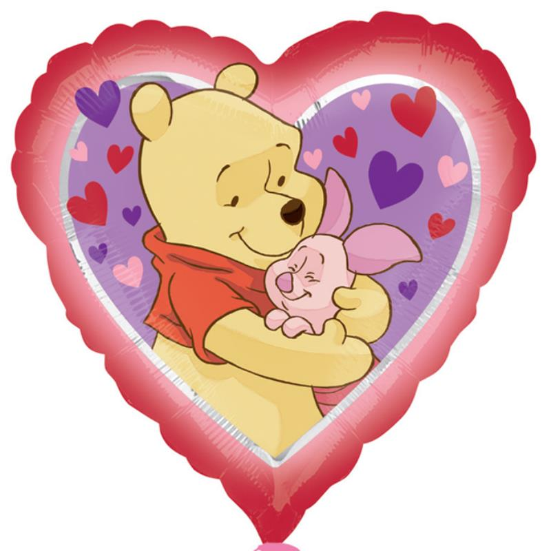 "18"" Pooh Love Hug Heart Balloon"