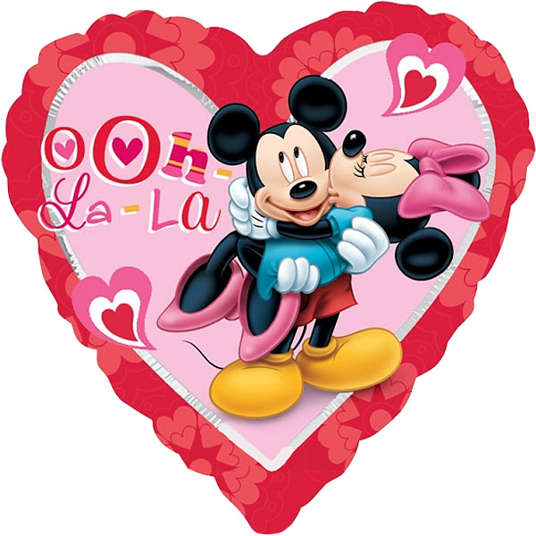"18"" Minnie & Mickey Mouse Heart Balloon"