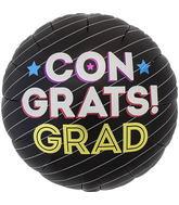 """18"""" Congrats Grad Pinstripe"""