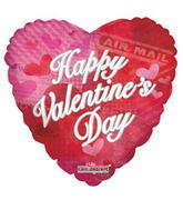 "9"" Happy Valentine's Day Balloon Air Mail"