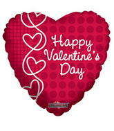 "9"" Happy Valentine's Day Balloon Laced Hearts"
