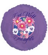 """18"""" Get Well Thoughts Purple"""