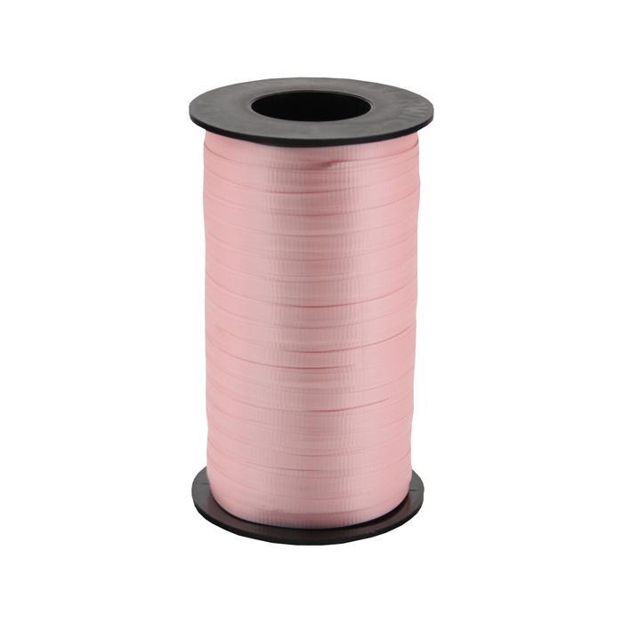 """3/16"""" Poly Curling Ribbed Ribbon Pink"""