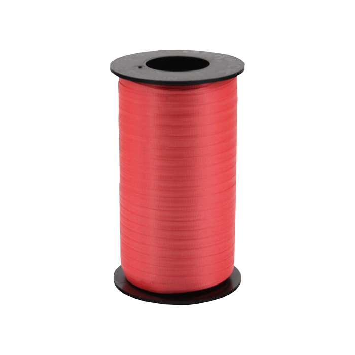 "3/16"" Poly Curling Ribbed Ribbon Red"