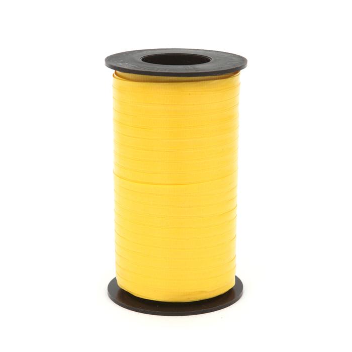 "3/16"" Poly Curling Ribbed Ribbon Sunshine"
