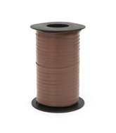 "3/16"" Poly Curling Ribbed Ribbon Chocolate"