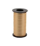 "3/16"" Poly Curling Ribbed Ribbon Gold"