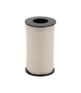 """3/16"""" Poly Curling Ribbed Ribbon Ivory"""