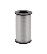 "3/16"" Poly Curling Ribbed Ribbon Silver"