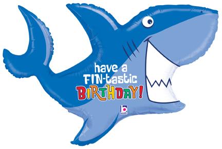 "39"" Foil Shape Birthday Shark"