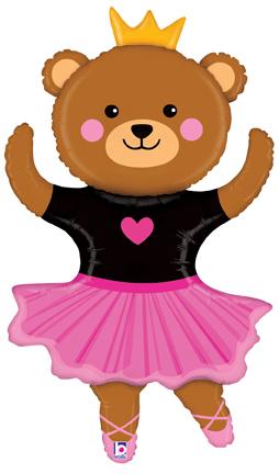 "48"" Foil Shape Dance Bear Ballerina"