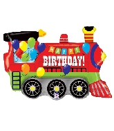 "37"" Foil Shape Birthday Party Train"