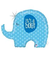 """32"""" Holographic Shape It's A Boy Elephant"""