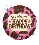"18"" Holographic Balloon Pink Cowgirl Birthday"