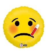 """18"""" MAX Float Balloon Emoji Sick"""
