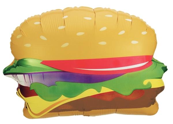 "28"" Foil Shape Balloon Hamburger Shape Balloon"