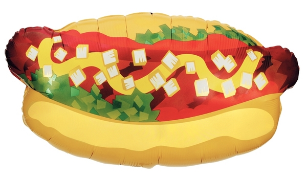 "32"" Foil Super Shape Hotdog Balloon"
