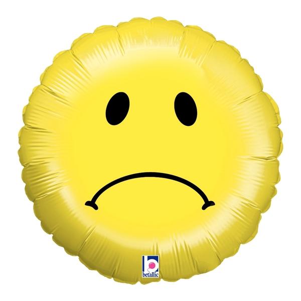 "18"" Balloon Sad Smiley"