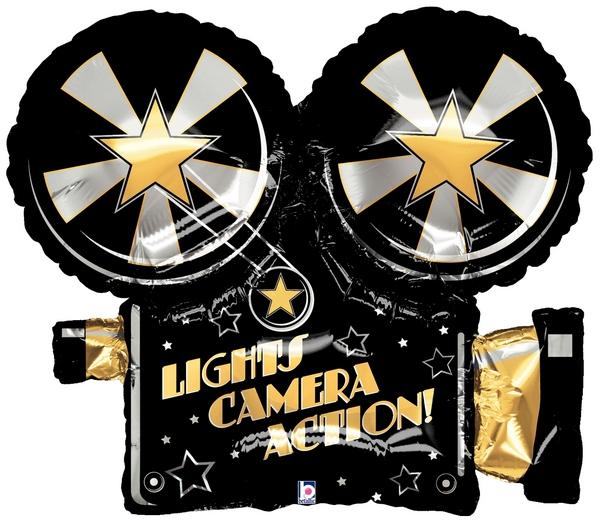 "32"" Lights Camera Action Projector Balloon"