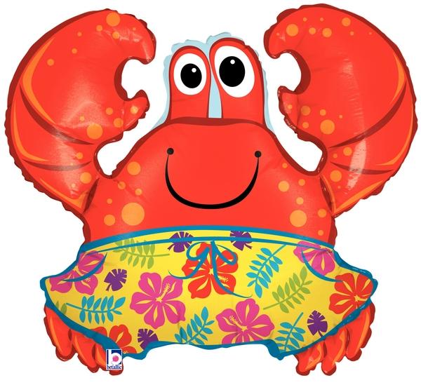 "36"" Beach Trunks Crab Large Balloon"