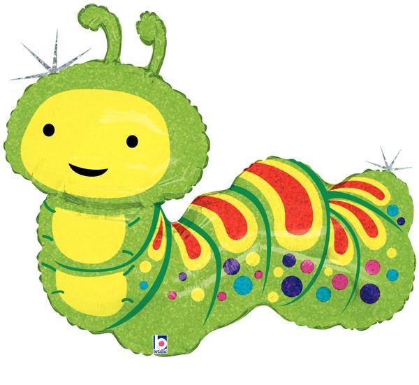 "32"" Holographic Shape Balloon Caterpillar"