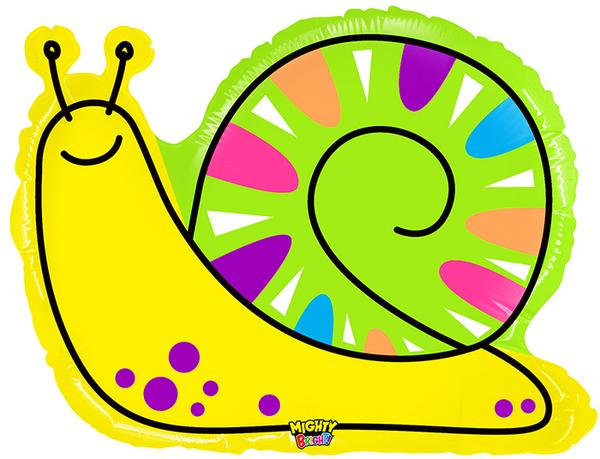 """30"""" Mighty Bright Shape Balloon Mighty Bright Snail"""