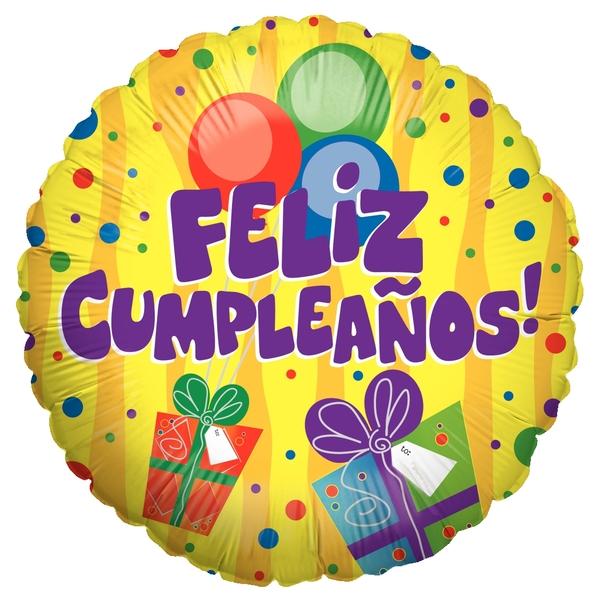 """18"""" Balloon Feliz Cumpleaños Regalos"""