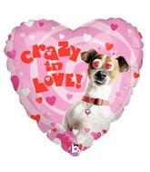 "21"" Two-Sided Packaged Crazy in Love Dog Crazy Eyes"