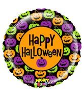 """21"""" Mighty Bright Balloon Mighty Pumpkin Halloween"""