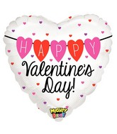 """21"""" Mighty Bright Balloon Mighty HVD Heart Banner"""