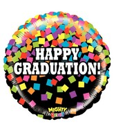 "21"" Mighty Bright Balloon Mighty Graduation Confetti"