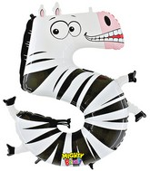 "40"" Number 5 ""Zebra"" Jumbo Balloon (Polybag)"