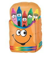 "28"" Large Mylar Balloon Crayon Box"