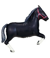 "43"" Foil Shape Balloon Black Horse"