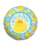 "18"" Balloon Packaged Boy Ducky"