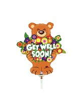 """14"""" Airfill Only Mini Air Shape Beary Big Bunch Get Well"""