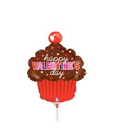 """14"""" Airfill Only Shape Balloon Valentine's Day Cupcake"""