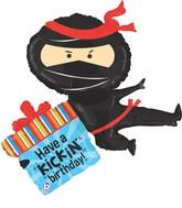 """38"""" Foil Shape Balloon Ninja Birthday"""