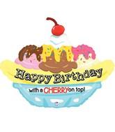 """29"""" Foil Shape Balloon Banana Split Birthday"""