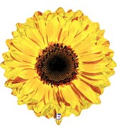 "24"" Foil Shape Balloon Yellow Flower"