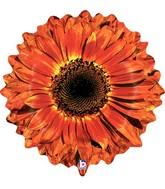 """24"""" Foil Shape Balloon Orange Flower"""