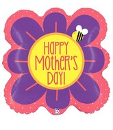 """23"""" Foil Shape Balloon Square Flower Mother's Day"""